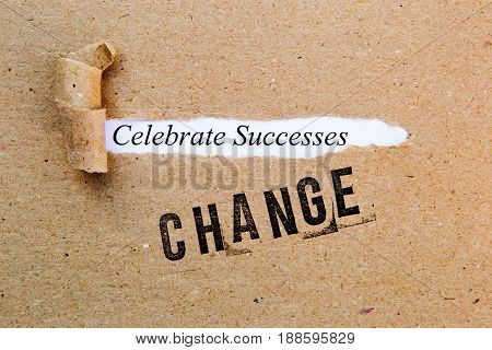 Change - Celebrate Successes - successful strategies for change