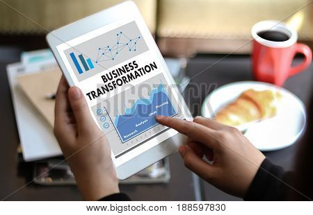 Digital Business Transformation  , Hi-tech Technological Digital And About Digital Marketing