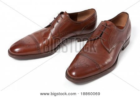 Man footwear on a white background