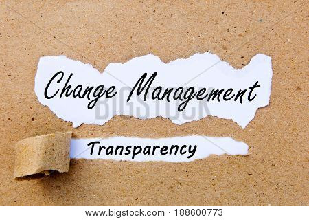 Change Management - Transparency - successful strategies for change management