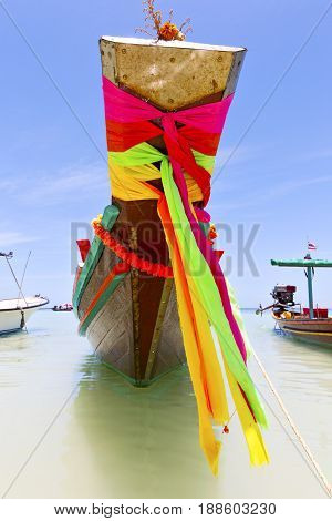 Prow Thailand  In  Kho Bay Asia Isle Blue  And South China Sea