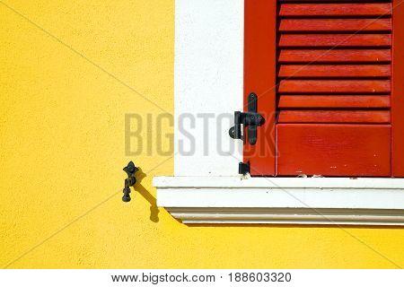 Red Window  Varano Borghi Palace   Abstract