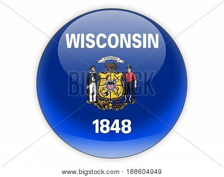 Flag Of Wisconsin, Us State Icon