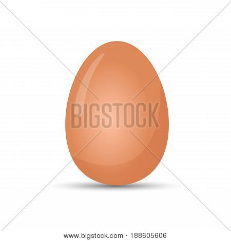 Boiled egg realistic vector illustration isolated on white background. Organic healthy product in eggshell, raw edible nourishment food