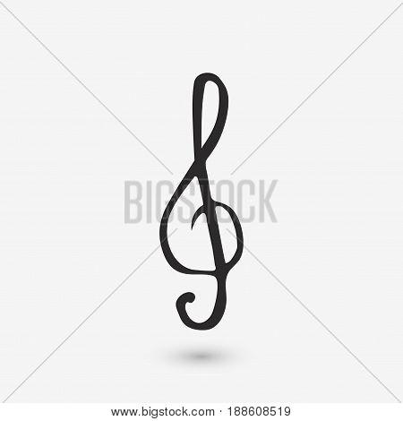 Music Violin Clef Sign.