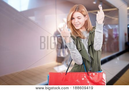 Fashion Woman With Shopping Bags In The Mall