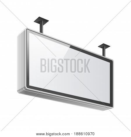 Realistic vector light box template on white background. Ceiling Mount. Vector illustration