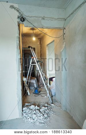 praeparatio muros sub wiring of electrica probatur faciens
