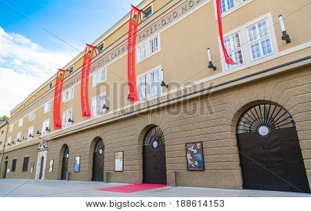 SALZBURG AUSTRIA - JULY 31: Grosses Festspielhaus (Great Festival Hall) in Salzburg. It is home to the world-famous Salzburg Festival which is held each summer and will kick off on July 19 in 2013.