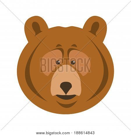 bear grizzly animal beast predator image vector illustration