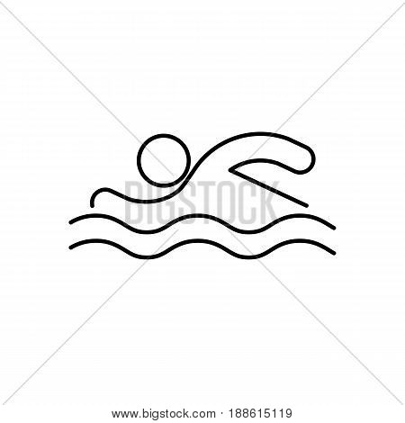 Swimmer Icon. Beach And Vacation Icon Vector Illustration
