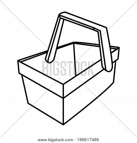 picnic basket or picnic for food vector illustration