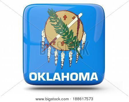 Flag Of Oklahoma, Us State Square Icon