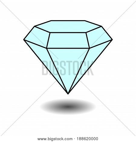icon diamond jewelery jewelery label sticker fully editable vector image