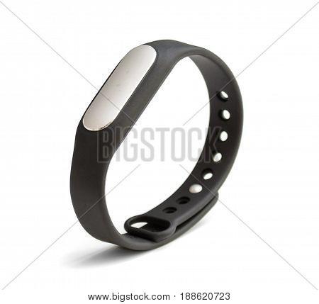 Fitness bracelet pedometer isolated on white background