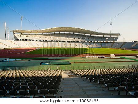 Huge Empty Stadium In Istanbul Turkey