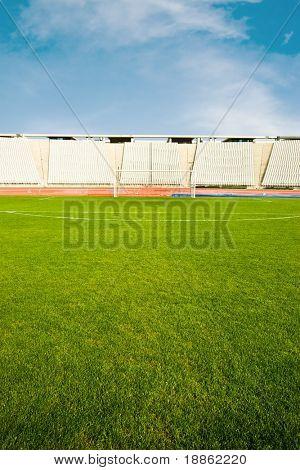Goal And The Bleachers Shot From Midfield