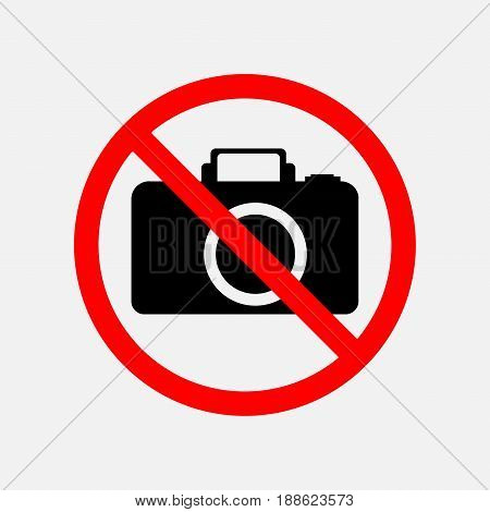 a sign can not be photographed no photos forbidden to take pictures the camera is prohibited editable vector image
