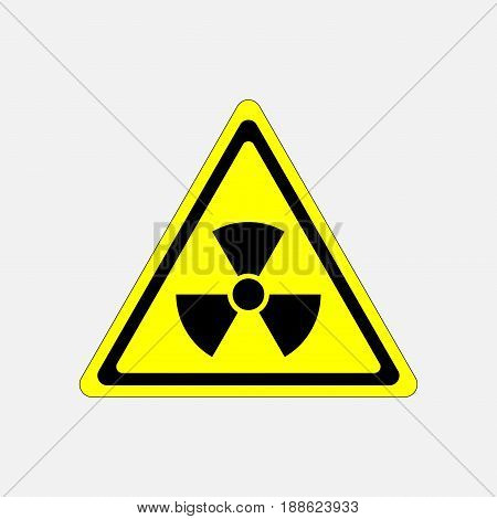 danger sign radiation symbol threat radiation warning sign in a yellow triangle fully editable vector image