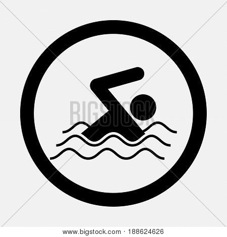 icon swim swimming fully editable vector image