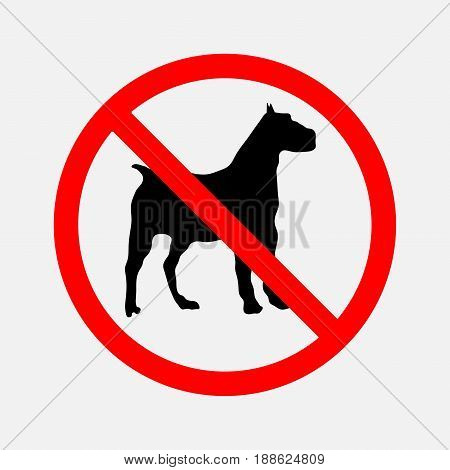 no dogs sign prohibitory sign dogs are not allowed passage the passage is NOT permissible editable vector image