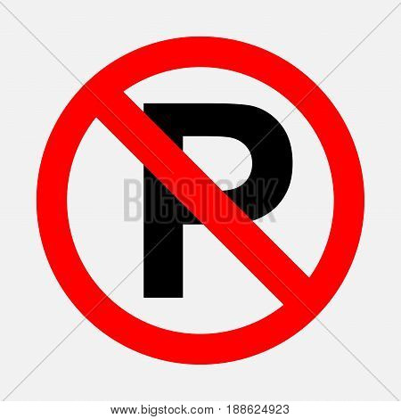 prohibiting sign no parking fully editable vector image