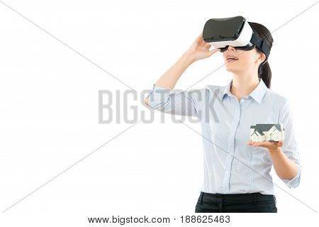 Woman Communication With Vr Headset Glasses