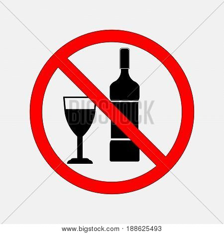 not prohibiting signs of food and alcohol no alcohol no alcohol no food prohibitory sign. editable vector image