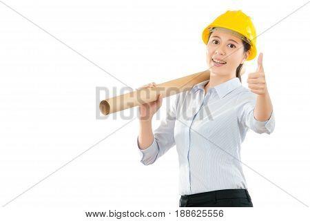Engineering Designer Holding New Draft