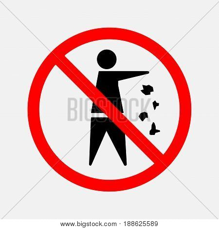 It is forbidden to throw garbage we can not throw garbage no debris editable vector image