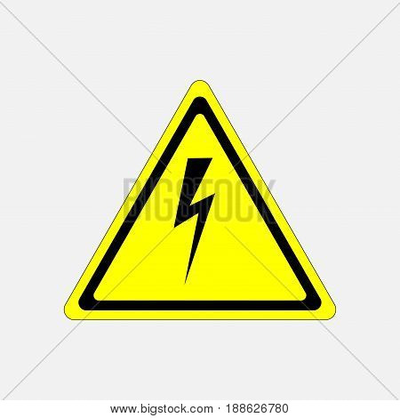sign high voltage danger characters in yellow triangle fully editable vector image