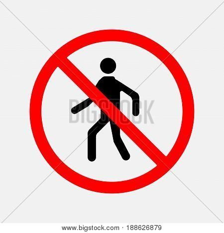 sign of the passage is forbidden there is no input the input hapreschen people editable vector image