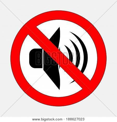 sign prohibiting noise signals is prohibited silent fully editable vector image