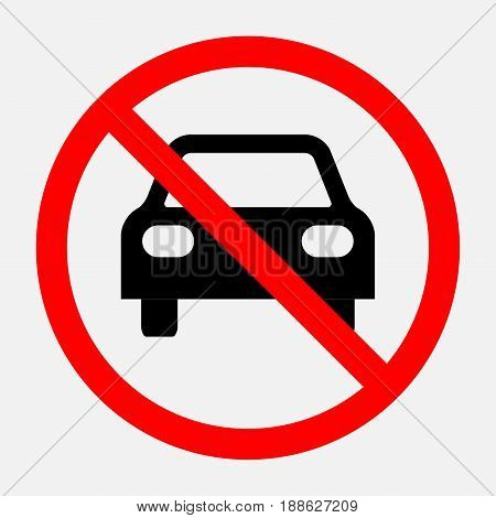 prohibiting sign travel is prohibited no parking no parking area fully editable vector image