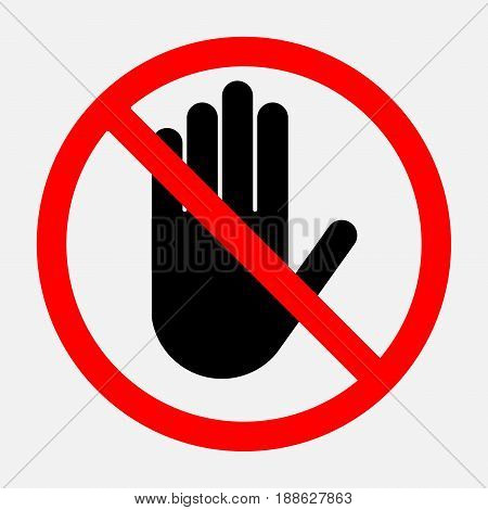 stop sign red round sign a sign prohibiting activities editable vector illustrations