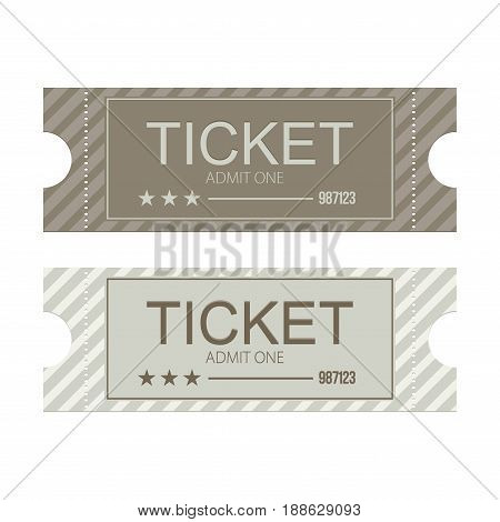 Tickets icon. Flat design. Vector illustration set