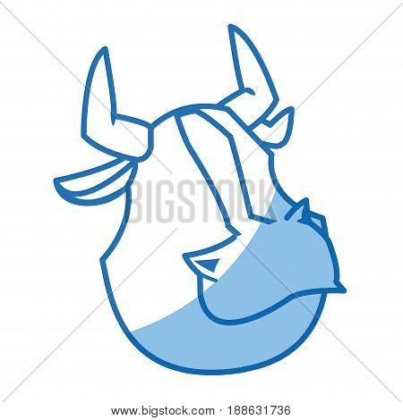 cartoon bull animal farm strong power vector illustration