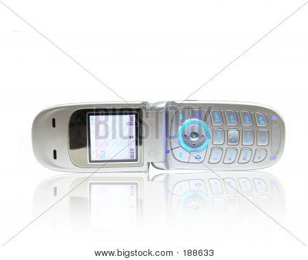 Reflétant le téléphone cellulaire