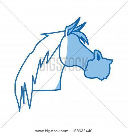 horse animal farm domestic strong image vector illustration