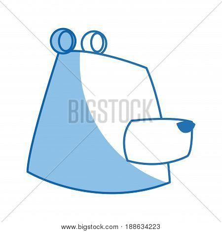 cartoon bear character wildlife animal carnivore design vector illustration
