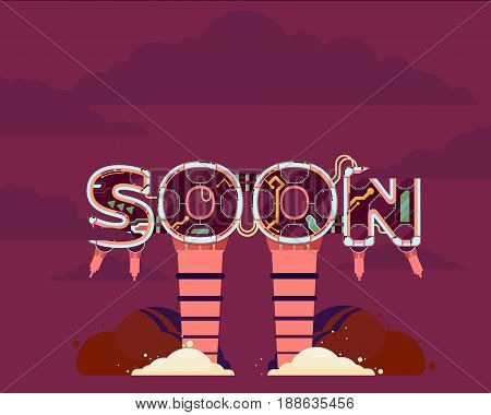 Coming Soon illustration icon page text illustration