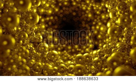 Many abstract 3d spheres on black background. Large group of grey orbs. Large resolution. Heap of pearl in closeup. Abstract bubbles with depth of field isolated on black background.
