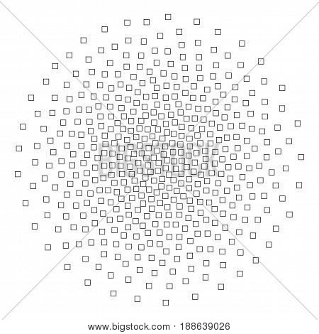 Spread of vector Square Particles. Abstract Pattern