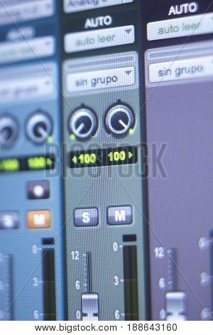 Recording Studio Mixing Desk