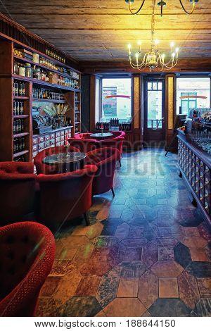 Black Magic Bar Vintage Interior Riga