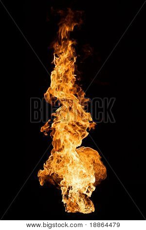 Big Flame on black background