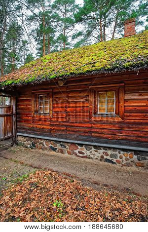 Old Wooden House In Ethnographic Open Air Village Of Riga