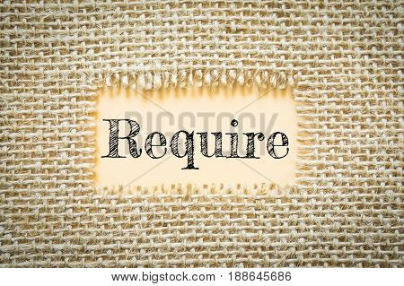 Text Require on paper Orange has Cotton yarn background you can apply to your product.