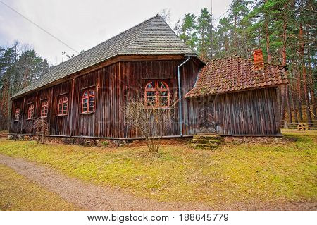 Old Buildings In Ethnographic Open Air Village In Riga