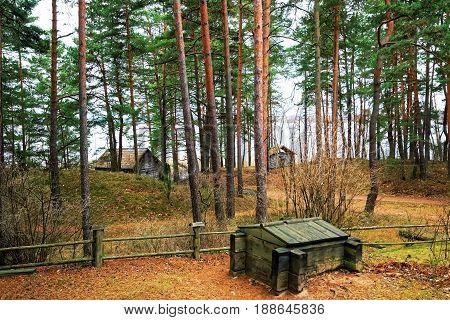 Ethnographic open air village in Riga, Latvia